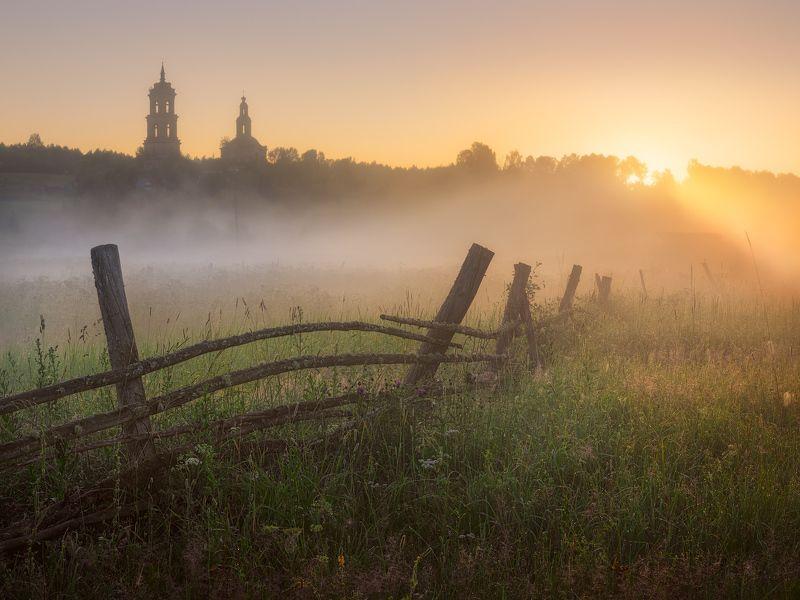 рассвет, туман, лето Свет пошелphoto preview