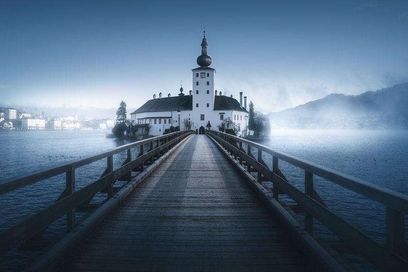 austria, church, lake, foggy, moody Austriaphoto preview