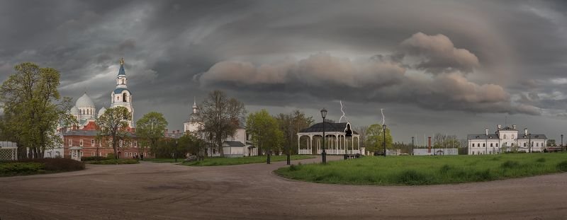 весна, гроза, церковь, монастырь photo preview