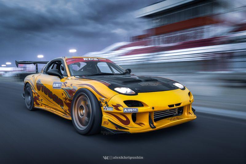 car Drift car Mazda RX-7photo preview