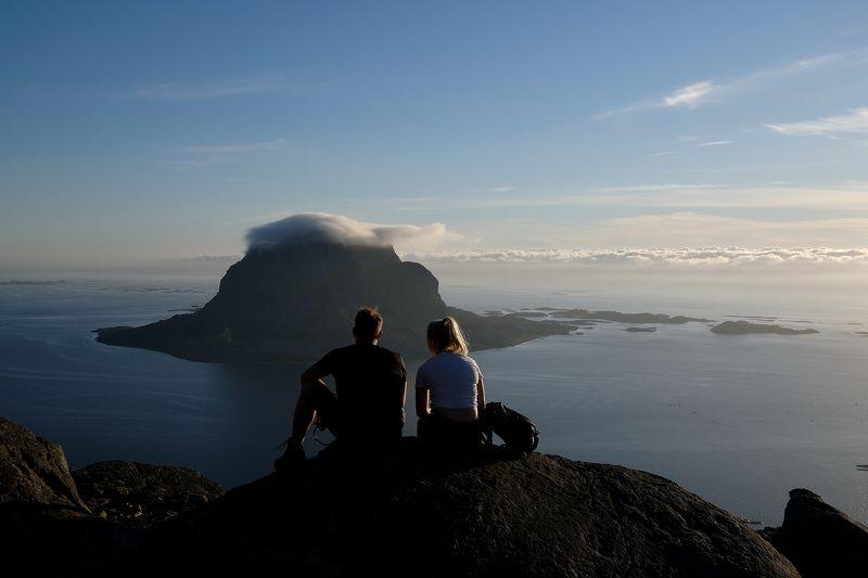 Sport, landscape, nature, Norway, people, Atlantic sea, clouds, view,  Отдых по-норвежскиphoto preview