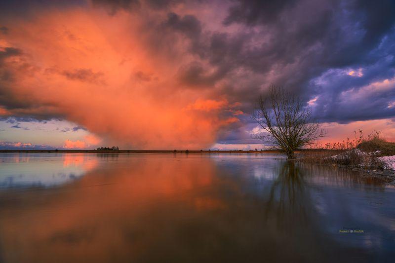 Vistula river, river, Poland, sunset, clouds, landscape, water, Vistula riverphoto preview