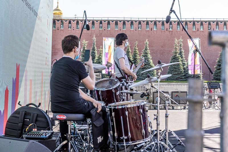 Репетиция перед концертом на Красной площадиphoto preview
