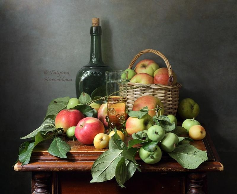 натюрморт, яблоки, лето Яблочныйphoto preview