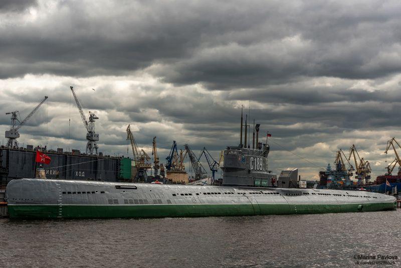 город, петербург, подводная лодка с189, подводная лодка-музей, городской пейзаж, nikon На вечном приколе под свинцовым небом Петербурга...photo preview