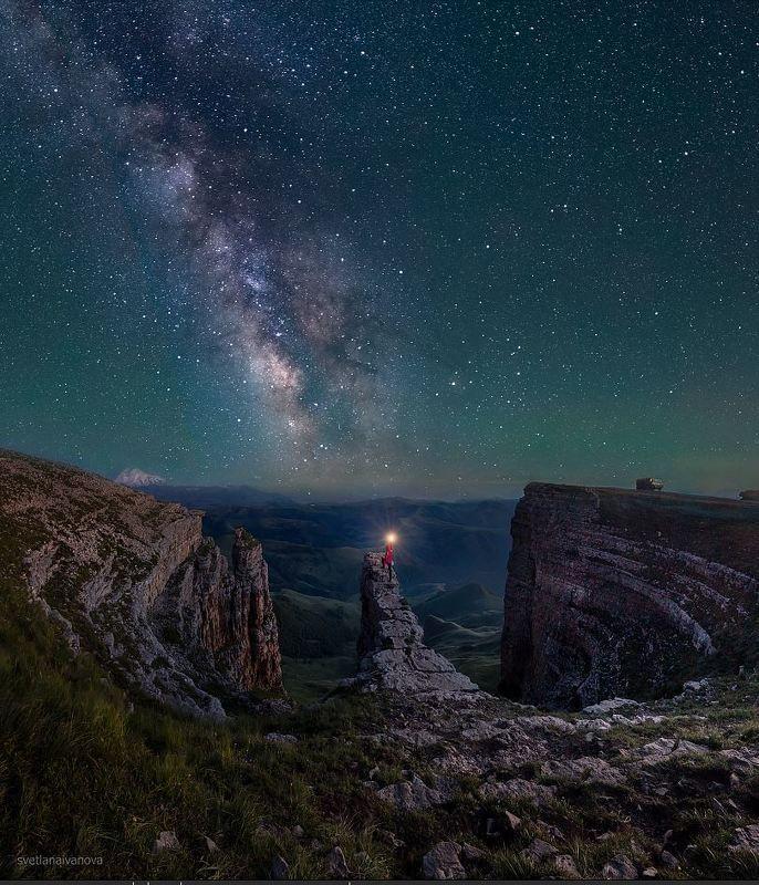 бермамыт, млечный путь, ночь, кавказ, звезды На краю вселенной...photo preview