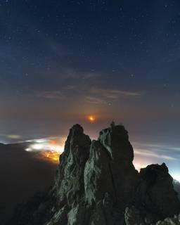 Восход луны над Ай-Петри