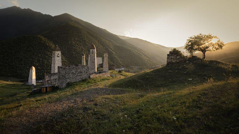 russia, ingushetia, mountains, sunset Ingushetia\'s Mountainsphoto preview