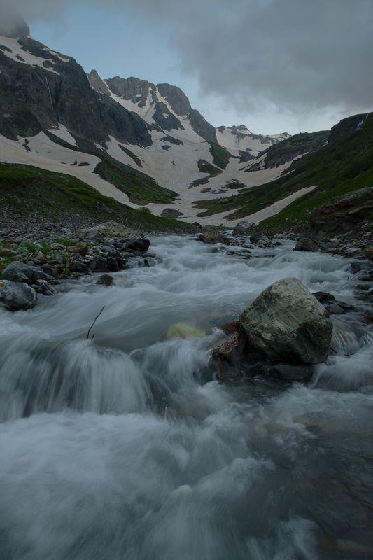 Кавказ, горы, река, Псыш, пейзаж Долина реки Псышphoto preview