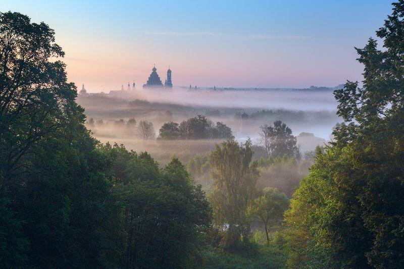 туман, храм, утро, подмосковье, истра На рассветеphoto preview