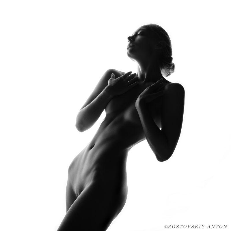 девушка, ЧБ, ню, студия, голая, Аннаphoto preview