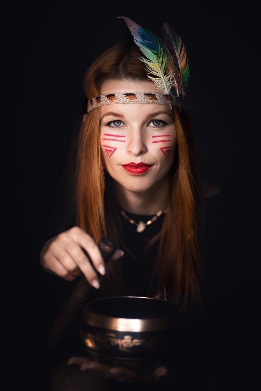 чум, женский портрет, индеец, образ В Чумеphoto preview