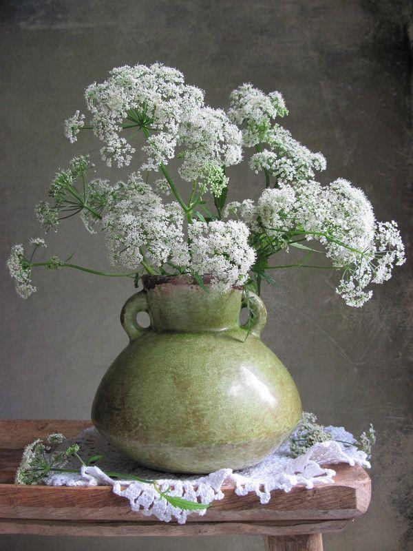 цветы, букет, сныть, керамика, салфетка Снытьphoto preview