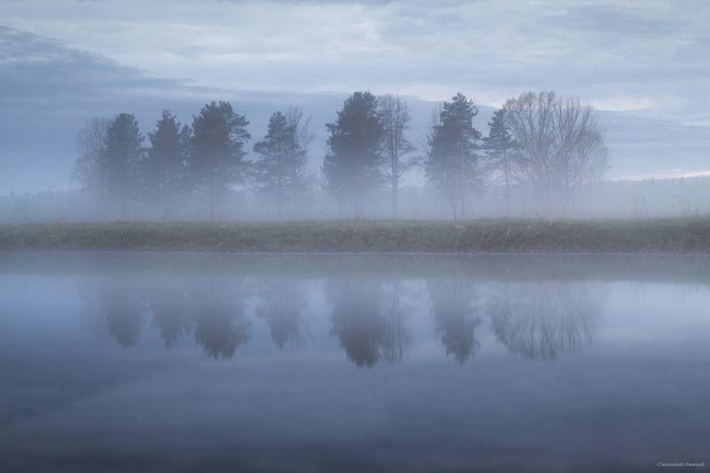 туман, вечер, май, закат, озеро, отражение Растворяясь в туманеphoto preview