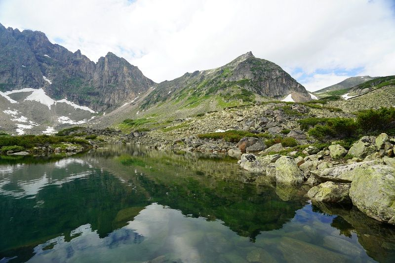 mountains, lake, water, rock, reflection, sky Summer hikephoto preview