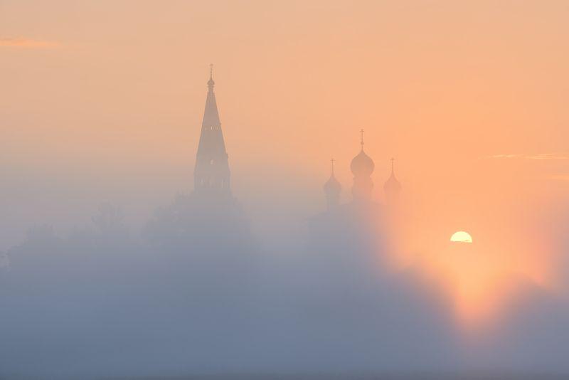 осенево, утро, туман, рассвет, восход ***photo preview