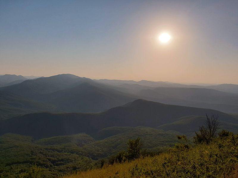горы, солнце, закат, вечер Вечер в горахphoto preview