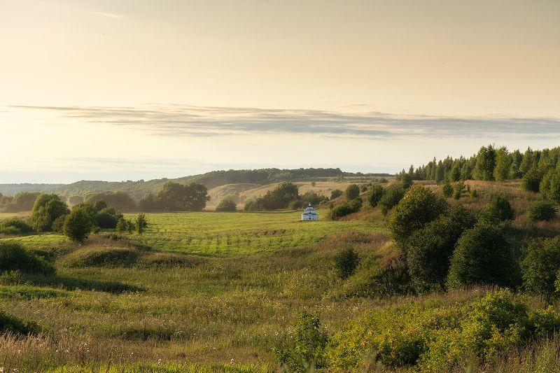 пейзаж, вечер, закат, лето, луга, просторы, ландшафт Переславские просторыphoto preview