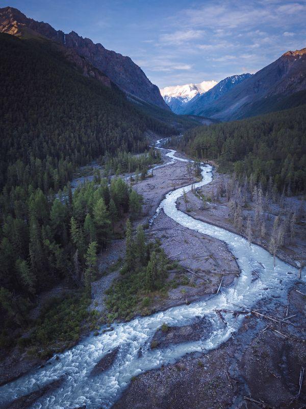 маашей, алтай, горныйалтай, река, горы Утро горной рекиphoto preview