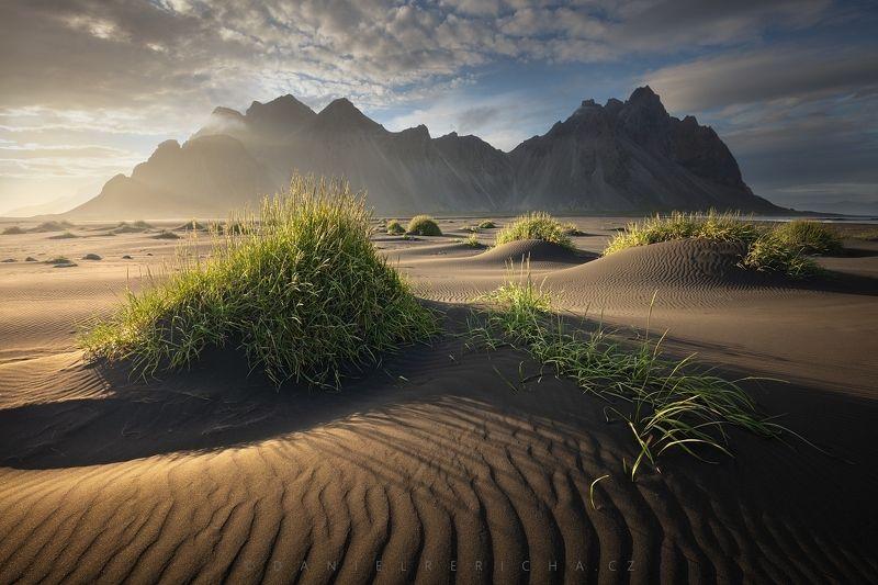 Iceland, Island,  Southern Iceland, Icelandic, Vestrahorn, Stokksnes, Europe, travel, nature, landscape, summer, summer Iceland,  evening Iceland, Island, daniel rericha, On an Icelandic beach...photo preview
