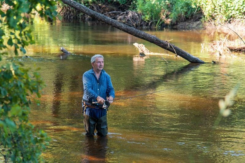 лесная река, рыбалка, мещёра, рязанская область, друзья Рыбацкими тропами по Мещереphoto preview