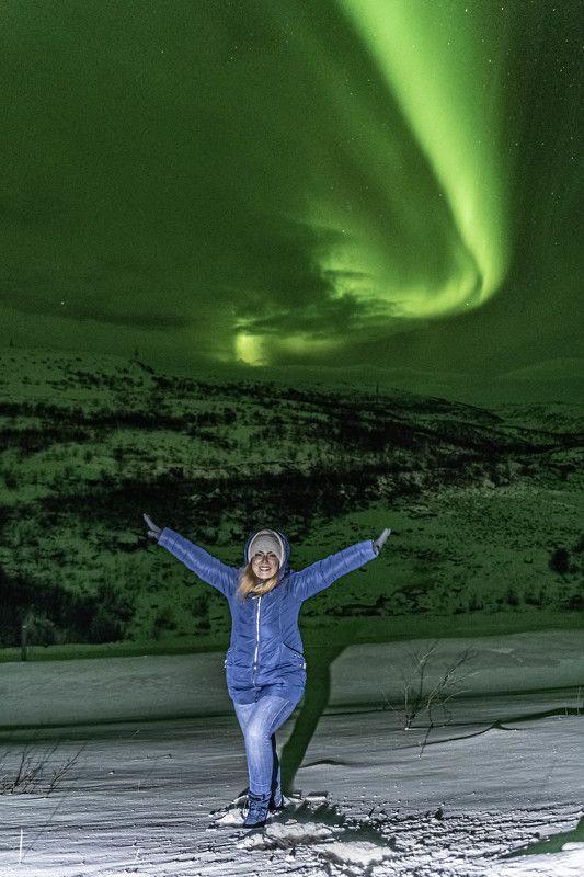 Жанр, Северное сияние, восторг Полетелиphoto preview