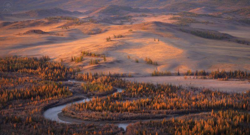 алтай, осень, река, долина, чуя Алтайские рассветыphoto preview