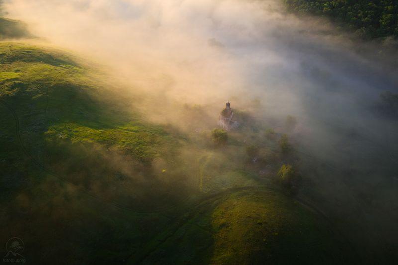 пейзаж, природа, река, утро, туман, маслово Масловоphoto preview