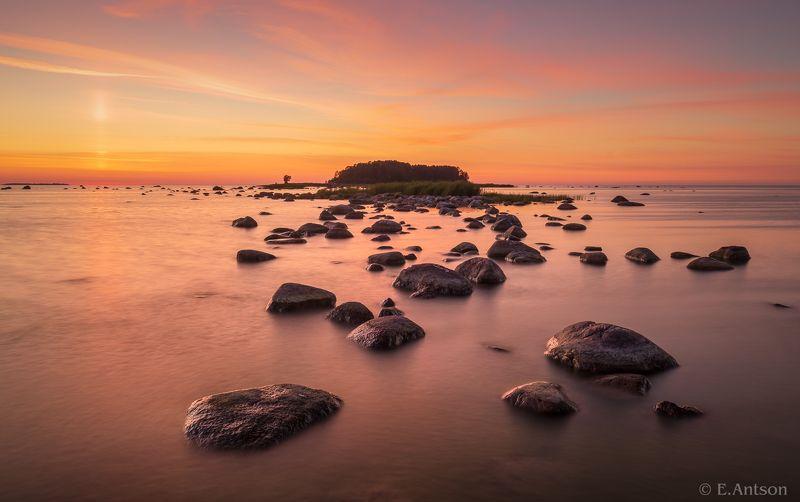 пейзаж, природа, море, эстония Белые ночи фото превью