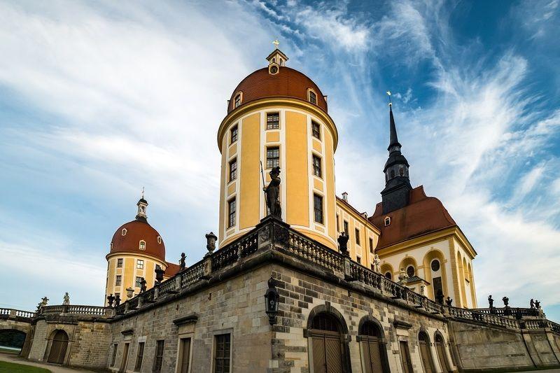 moritzburg, castle, germany, architecture, europe, summer, clouds, travel,  германия, замок Moritzburg castle, Germanyphoto preview
