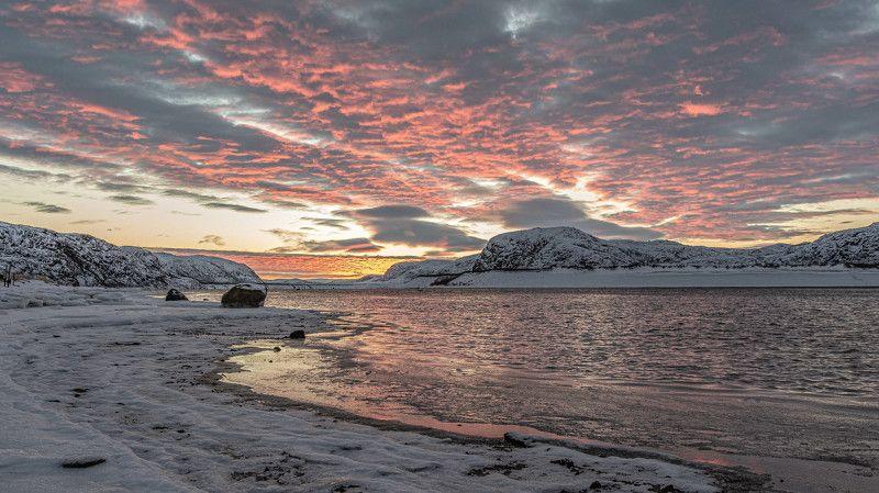 Пейзаж, рассвет, Кольский полуостров Огненый рассветphoto preview