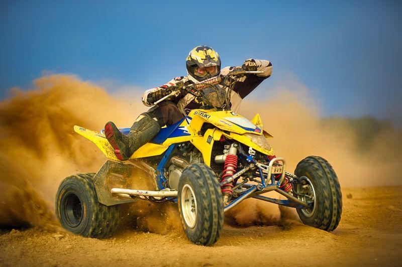 quad bike, sport, racing, sports, sand, dust quad racingphoto preview