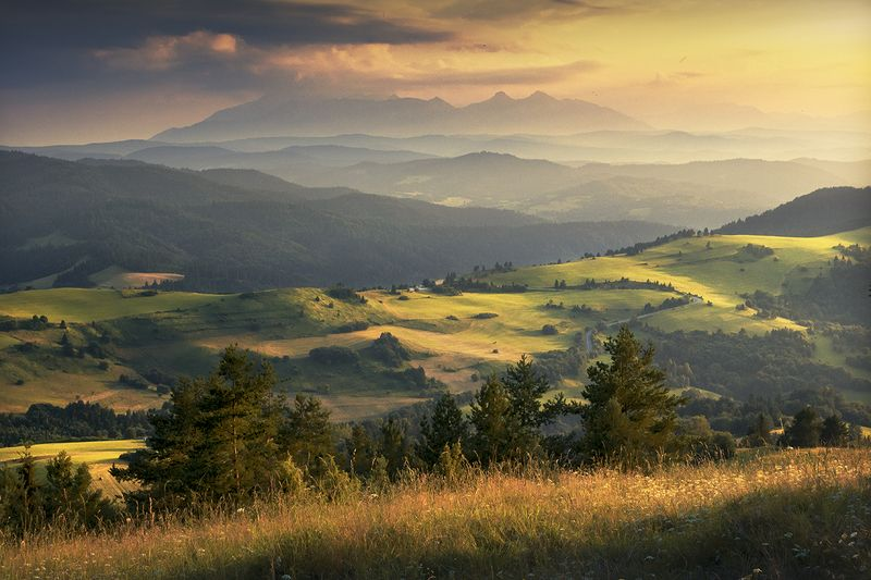 Sunset in the Pieniny Mountainsphoto preview