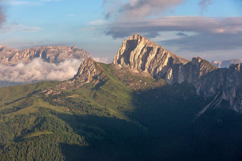 италия, доломиты, горы, облака, восход, природа, landscape, italy, dolomites, golden hour, golden light, sunrise Солнце взошло.photo preview