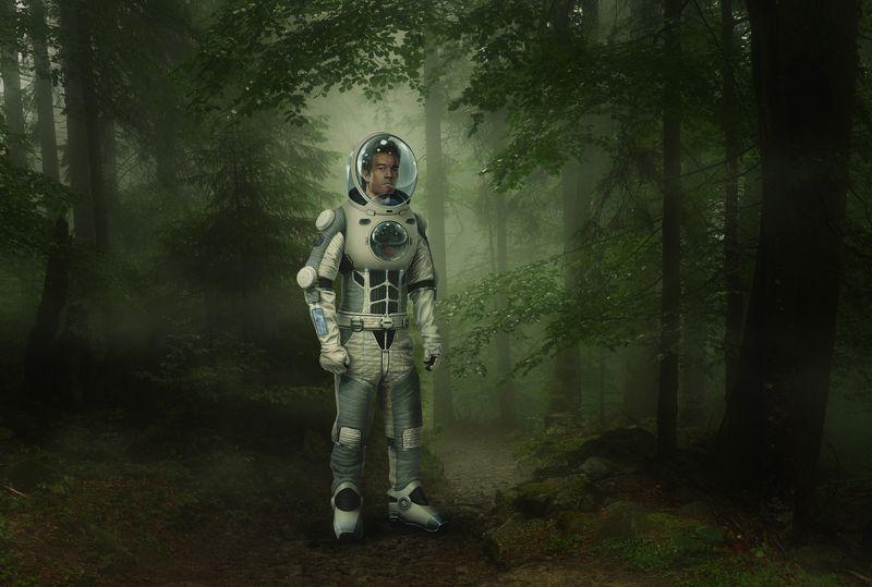 лес, планета, астронавт Terra incognitaphoto preview