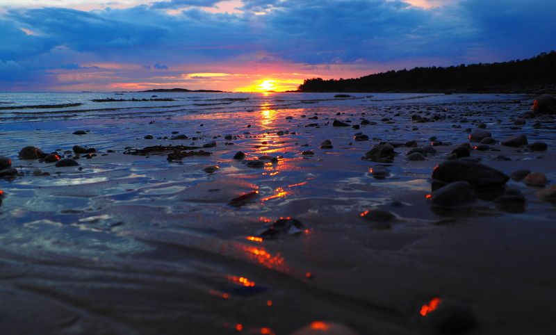 Закат на Кий острове.photo preview
