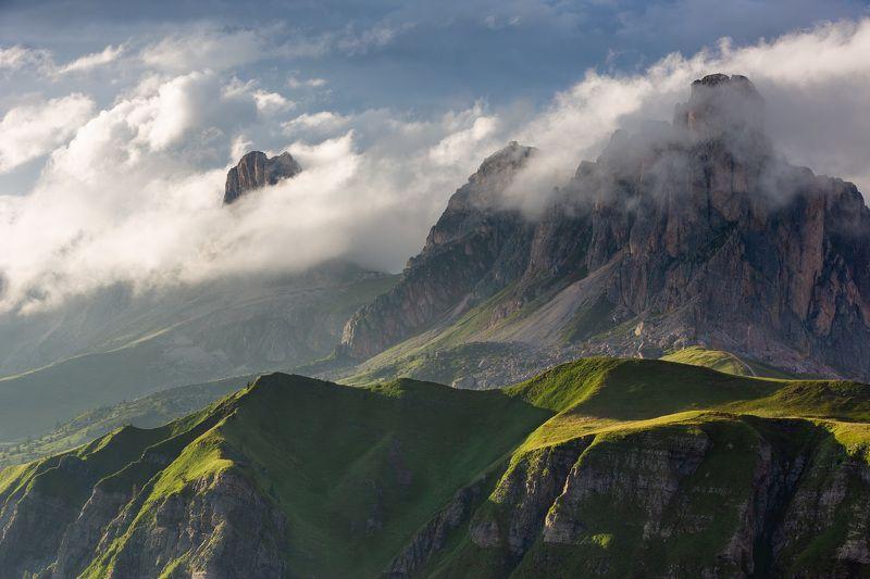 италия, доломиты, горы, облака, закат, природа, landscape, italy, dolomites Альпийский пейзаж.photo preview