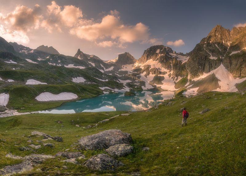 западный кавказ, имеретинский узел, озеро безмолвия, рассвет, июдь, Имеретинкаphoto preview
