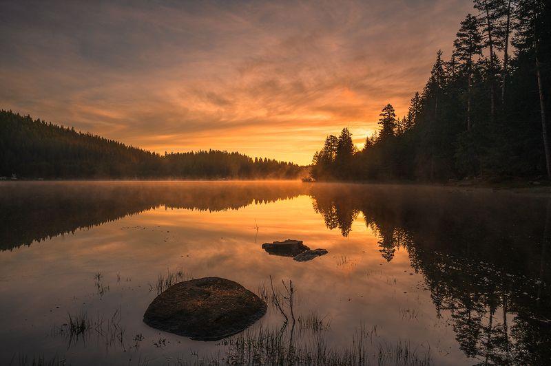 landscape, nature, scenery, spring, peak, lake, reflеction, sunrise, morning, dawn, longexposure, mountain, bulgaria, весна, горы photo preview
