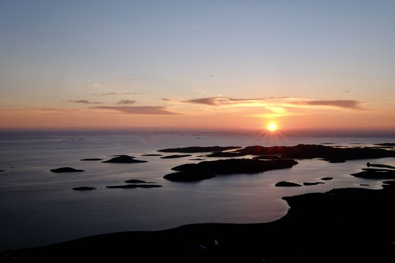 Landscapes, Norway, sunset, view, nature, Atlantic Ocean, colors, islands, sky, sun light,  Всегда возвращаетсяphoto preview
