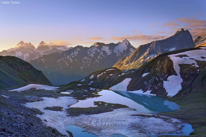 кавказ, кчр,  зелёные озёра В горах Кавказаphoto preview