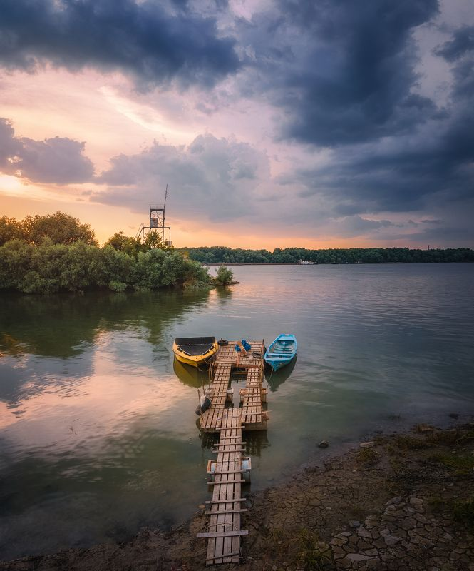 Danube sunsetphoto preview
