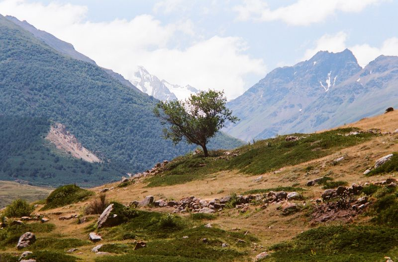 mountains sky clouds plateau rage landscape  rock caucasus Чегем.photo preview