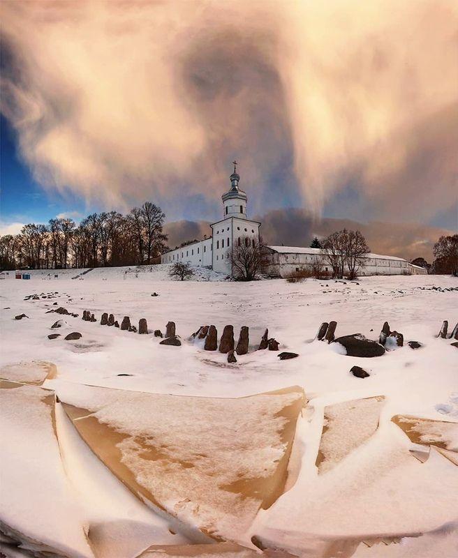 церовь, небо, архитектура, новгород, зима Энергетика местаphoto preview