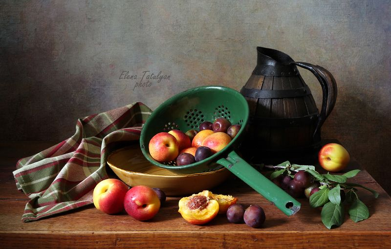 овощи, фрукты, кухонный натюрморт Кухонные натюрмортыphoto preview