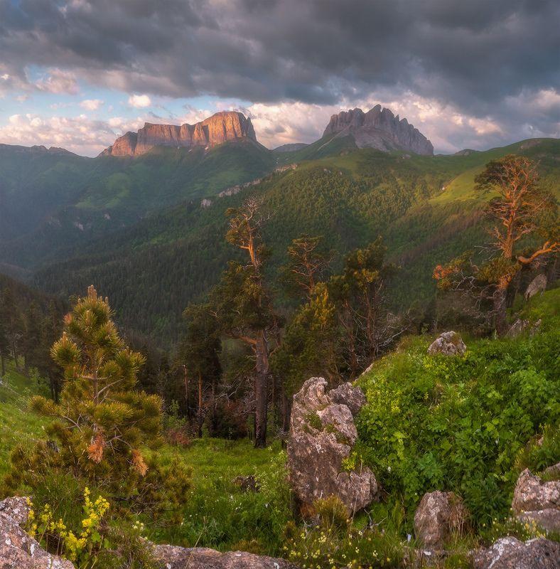 западный кавказ, ачешбок, перевал чертовы ворота, лето, июнь, рассвет Западный кавказ. Ачешбок.photo preview