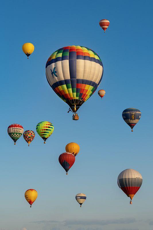 небо, полет, левитация, аэронавтика, воздухоплавание, аэростаты, воздушный шар, аэростат, россия Аэровальсphoto preview