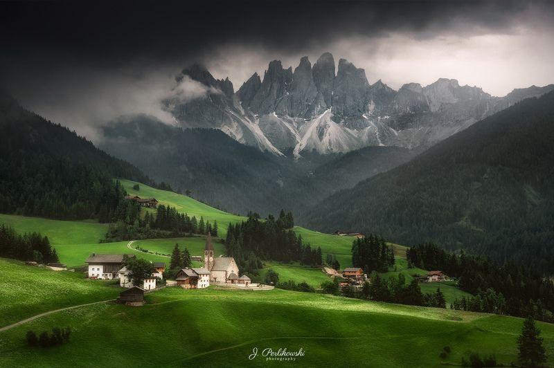 alps, dolomites, mountains Thunder in Dolomitesphoto preview