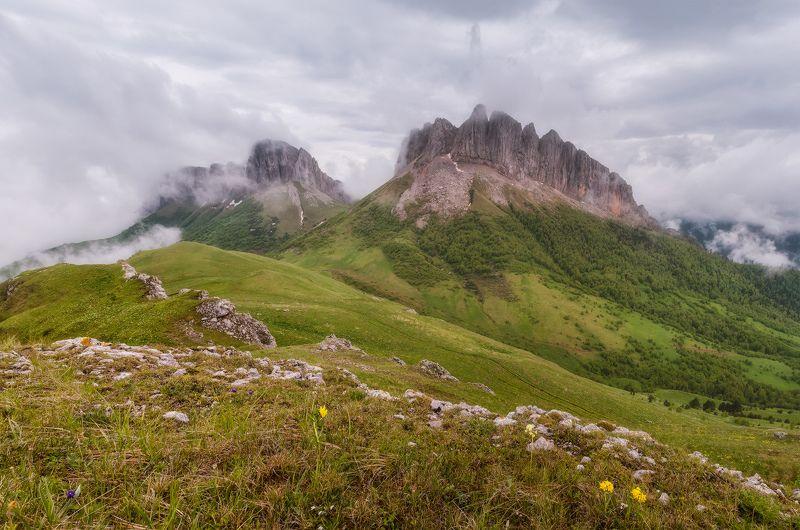 западный кавказ, ачешбок, лето, рассвет Западный кавказ. Ачешбок.photo preview
