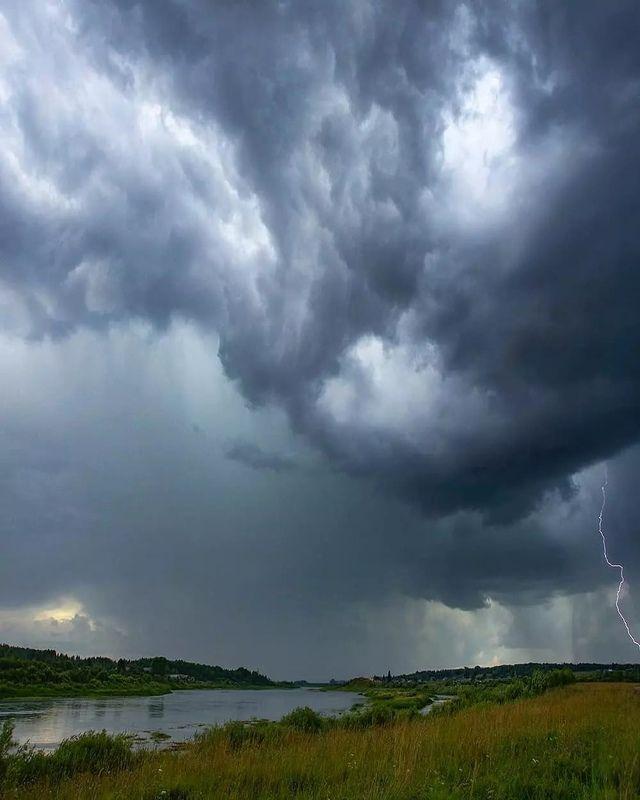 молния, гроза, онега, небо, стихия Молнияphoto preview
